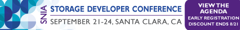 Discounted Registration for the June 2015 Storage Developer's Conference in Santa Clara, CA ends 8/21/15