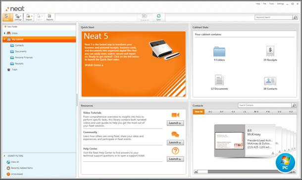 neat dashboard pc windows - Receipt Scanner